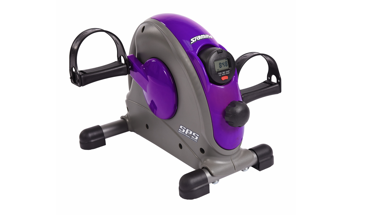 Stamina Mini Exercise Bike With Smooth Pedal System Purple