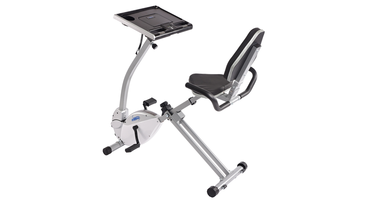 Stamina 2 In 1 Recumbent Exercise Bike Workstation And