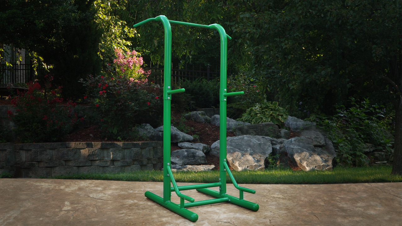 stamina outdoor fitness power tower 65 1460 sit pull ups knee raise dip station ebay. Black Bedroom Furniture Sets. Home Design Ideas
